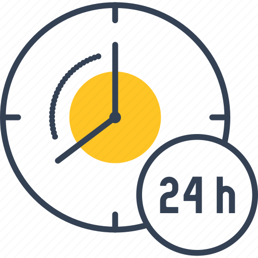 Clock, day, cloud, computing icon