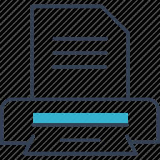 Text, printer, cloud, computing icon