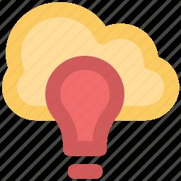 cloud computing, digital power, innovative concept, lightbulb idea, network bulb, server solutions, sky inspirations icon