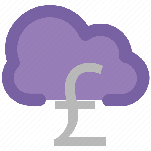 cloud network, currency symbol, financial concept, global business, modern technology, online business, pound sign icon