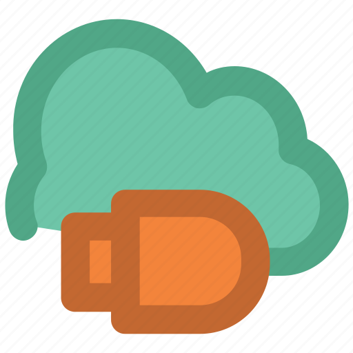 cloud computing, cloud storage, connect, global information, network service, usb plug, wireless communication icon