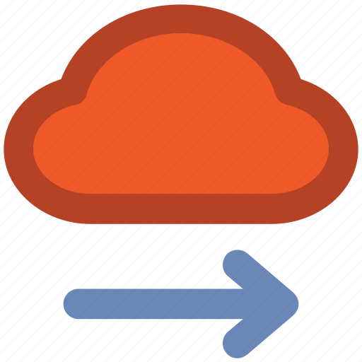 Arrow direction, arrow pointing, cloud network, cloud technology, forward arrow, wireless network, wireless technology icon - Download on Iconfinder