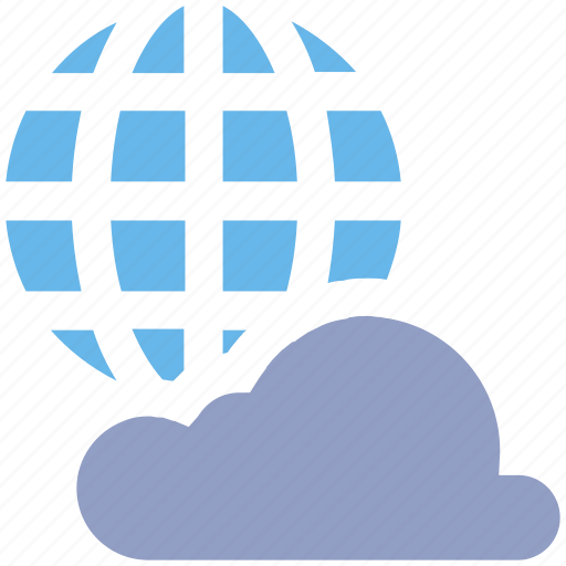 Cloud, global, global cloud network, international cloud computing, universal cloud network, worldwide cloud network icon - Download on Iconfinder