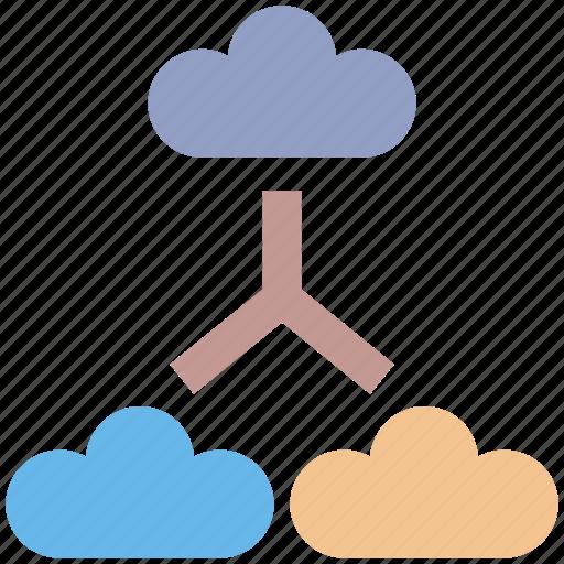 cloud connection, cloud internet, cloud network, connected clouds, internet connection, internet connectivity icon