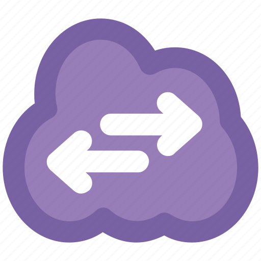 Arrow pointing, cloud network, cloud technology, left arrow, right arrow, wireless network, wireless technology icon - Download on Iconfinder