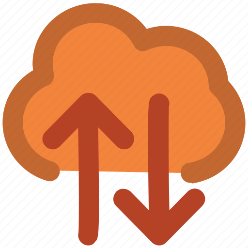 arrows indication, cloud network, cyberspace, data delivery, downloading, uploading, wireless network icon