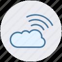 cloud, cloud computing, network, wifi cloud computing, wireless internet icon