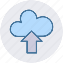 cloud and upload sign, cloud computing, cloud network, cloud upload, cloud uploading icon
