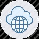 cloud globe, cloud wireframe globe, cloud world, globe, universe, world, world globe icon