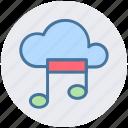 cloud and music note, cloud music, cloud music concept, cloud with music sign, music cloud, musical cloud icon