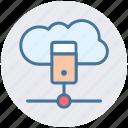 cloud, cloud computing, cloud data, database, server, storage icon