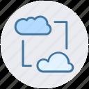 cloud internet, cloud network, cloud networking, data transform, data transforming, wireless internet icon