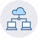 cloud computing, cloud network, cloud networking, cloud storage, synchronized devices icon