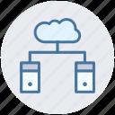 cloud, cloud computing, cloud data, database, servers, storage icon