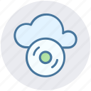 cd, cloud cd, cloud computing, disk, dvd, multimedia icon