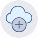 add, add-cloud, cloud, cloud computing, plus, storage