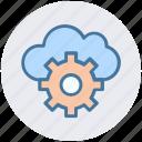 cloud computing, cloud gear, cloud technology, internet cloud with gear, internet configuration setting, settings concept