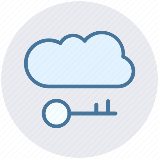 Cloud and key, cloud internet safety, cloud key, cloud network safety, cloud with key icon - Download on Iconfinder