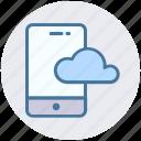 cloud, cloud mobile, computing, mobile, smartphone icon