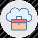 bag, business, cloud, cloud computing, office bag, suitcases