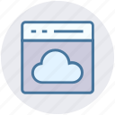 analysis, business, cloud, computing, office, website icon