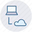 cloud, cloud computing, computer, connection, network, storage icon