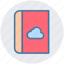 address book, book, cloud, cloud computing, phone directory, telephone directory icon