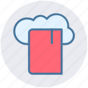 cloud, cloud book, cloud library, computing, education, knowledge icon