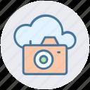 camera, cloud, image, multimedia, photo, picture icon