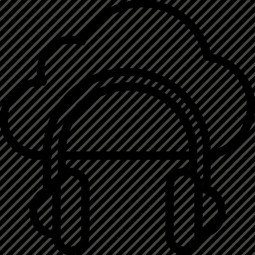 cloud music, online media, online multimedia, online music icon