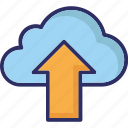 cloud data transmission, cloud transfer, cloud upload, cloud uploading icon