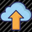 cloud transfer, cloud data transmission, cloud uploading, cloud upload icon