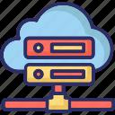computer network, information access, server rack, shared server