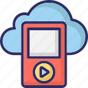cloud pod. walkman, mp4 player, ios device