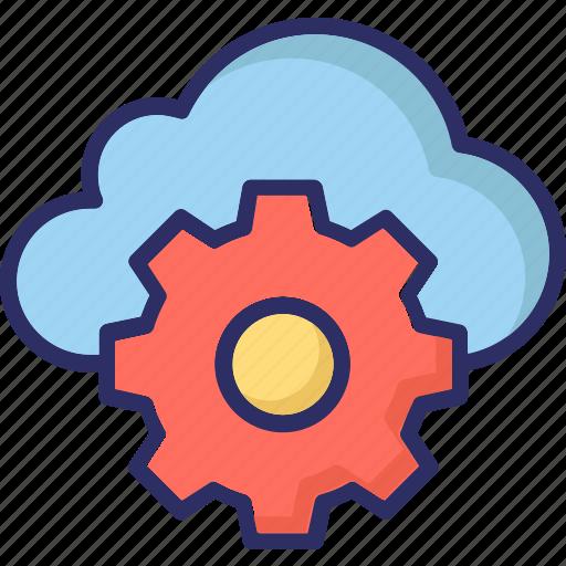 cloud network, network setting, server setting, server tools icon