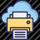 cloud printing, facsimile, online printing, printing service icon
