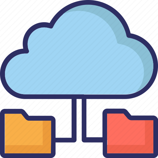 cloud computing, cloud folder, cloud technology, data accessibility icon