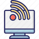 cloud signals, rss, signals, wifi signals icon