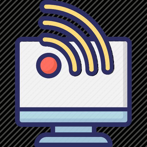 cloud signals, rss, signals, wifi signals icon
