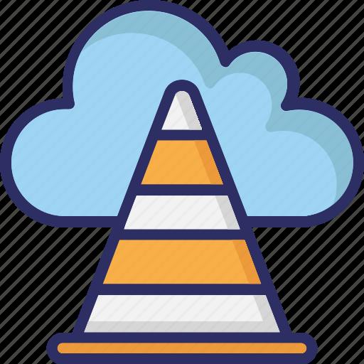 cloud cone, cloud traffic, icloud, internet traffic, traffic cone icon