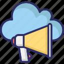 online advertising, megaphone, cloud computing, loudspeaker
