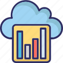 cloud computing, cloud graph, graph, oneline graph icon