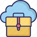 cloud computing, cloud portfolio, icloud, portfolio icon