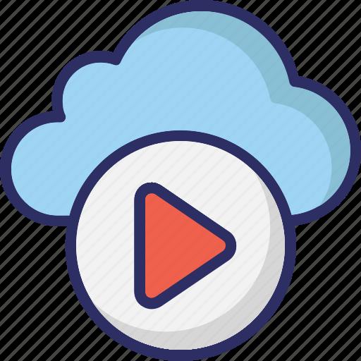 cloud media, cloud multimedia, media storage, online media icon