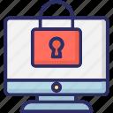 lcd, lock screen, monitor, monitor protection icon