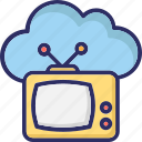 retro tv, tv, tv set, vintage tv icon