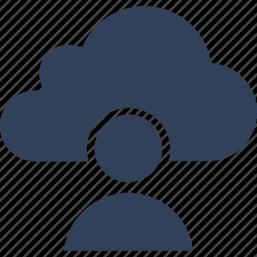 cloud computing, cloud user, data storage, storage cloud icon