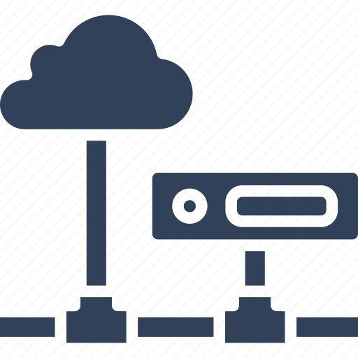cloud computing, cloud hosting, data cloud, network server icon