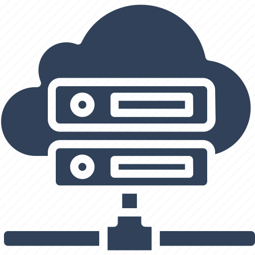 computer network, information access, server rack, shared server icon