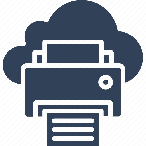 cloud printing, facsimile, online printing, printing service icon